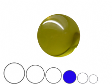 Jac Products Yellow 75mm Acrylic Contact Ball